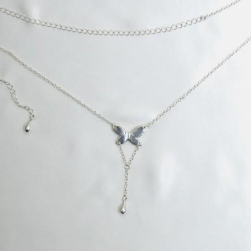 Butterfly Waist Chain Silver