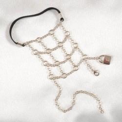 Chainmail Padlock Penis Bracelet