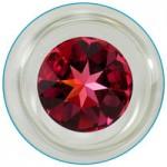 Clear Glass Star Delight Dildo Swarovski Crystal