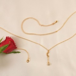 Crescent Moon 18K Gold Waist Chain