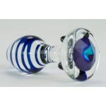Crystal Kiss Color Swirl Clear Glass Anal Plug