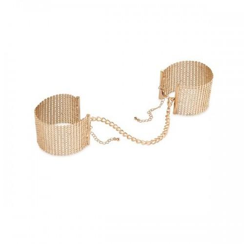 Desir Metallique - Gold Metallic Mesh Handcuffs