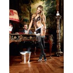 French Maid Transparent Black Negligee