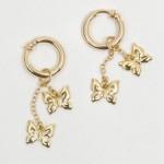 Gold Dangling Butterflies Non Piercing Labia Jewelry Rings