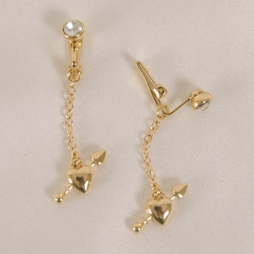 Gold Hearts Labia Jewelry