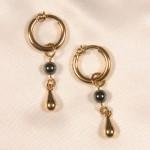 Gold  & Hematite Labia Jewelry Ring Set Non Piercing