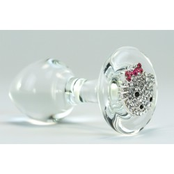 Hello Kitty Glass Anal Plug