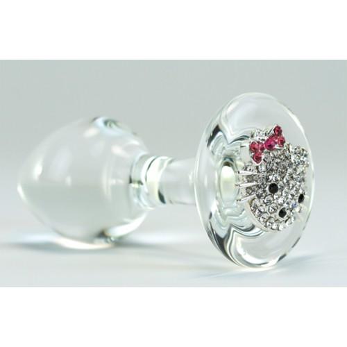 Hello Kitty Glass Anal Plug