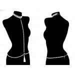 La Favorite Triple Strand Pearl Necklace Tassel Body Chain