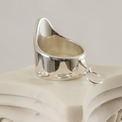 Men's Wide Sterling Silver Penis Ring G-String