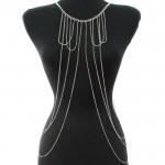 Pearl & Metal Fringe Body Chain Jewelry