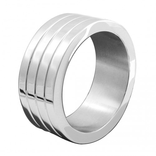 Stainless Steel Banded Mega Wide Cock Ring