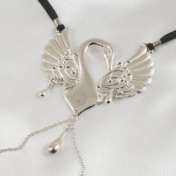 Sterling Silver Caressing Swan G-String