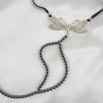 Sterling Silver Dragonfly Double Hematite Pearl G-String