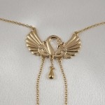 Swan Nipple Necklace with Non Piercing Nipple Chains