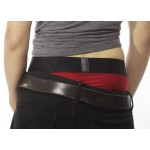 Tomboi Red Harness Brief With Black Strap On
