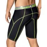Xtremen Long Sports Boxer Black With Decorative Stitching