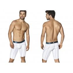 Xtremen Long Sports Boxer White With Decorative Stitching