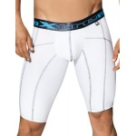 Xtremen Long Sports Boxer White With Decorative Stitching