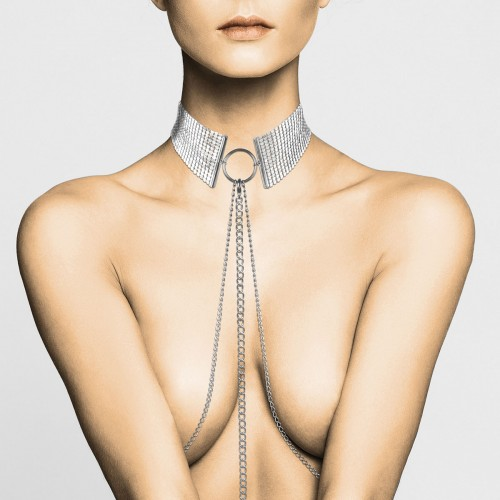 Desir Metallique - Metalic Mesh Silver Collar