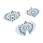 Flamboyant Vajazzling Body Jewelry - Blue/Green