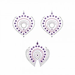 Flamboyant Vajazzling Body Jewelry - Violet/Pink
