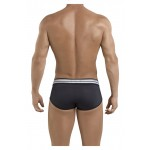 5387 Sophisticated Piping Briefs Color Black