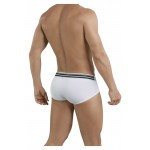 5387 Sophisticated Piping Briefs Color White
