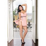 Padded Cup Pink Lace Babydoll and Thong