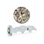 Clear Glass Twist With Swarovski Crystal