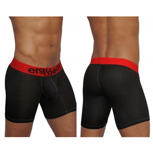 EW0660 MAX Mesh Boxer Briefs Color Black-Red