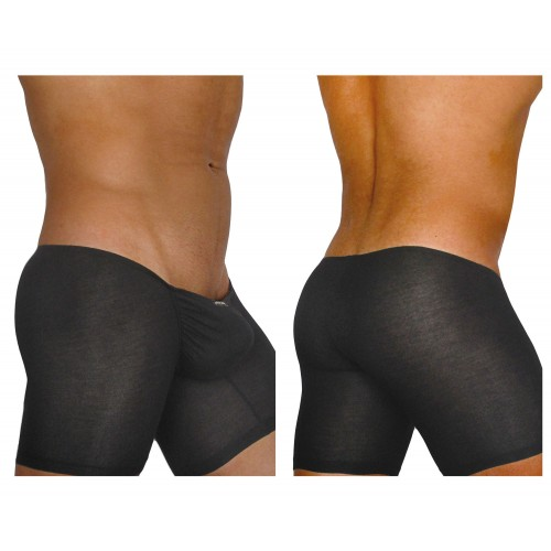 EW0704 FEEL Modal Long Boxer Color Black