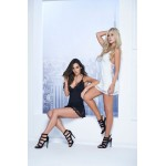 7114 Babydoll with Matching G-String Color Black
