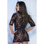 7115 Lace Robe Color Black