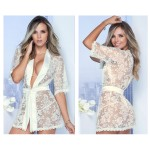7115 Lace Robe Color Ivory