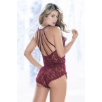 7156 Romper Color Burgundy
