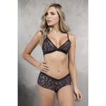 8317 Two Piece Lingerie Set Color Blue-Black