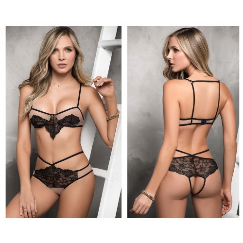 8320 Two Piece Lingerie Set Color Nude-Black