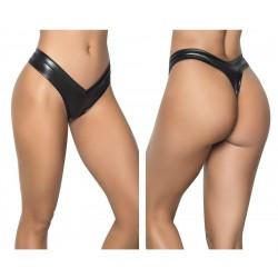 1095 High Leg Thong Color Wet Black