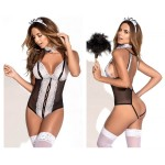 6379 French Maid Costume Outfit Color Multi-colored