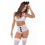 6386 Snowgirl Costume Outfit Color White