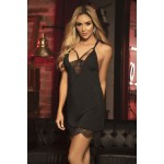 7300 Babydoll with Matching G-String Color Black