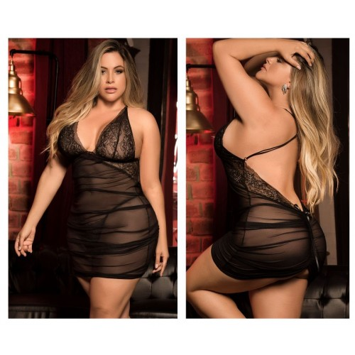 8440X Babydoll with Matching G-String Color Black
