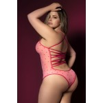 8463X Bodysuit Color Pink-Red