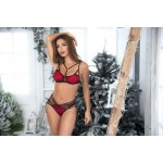 8467 Two Piece Set Color Black-Red