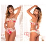 8482 Two Piece Set Color Floral Print