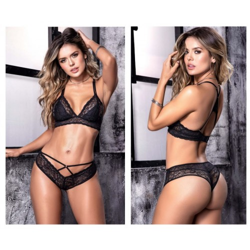 8506 Two Piece Set Color Black