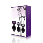 Booty Plug Set 3-Pack Black or Purple