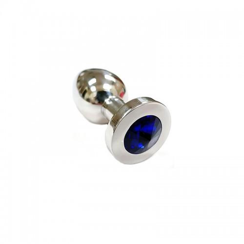 Rouge Stainless Steel Black Crystal Butt Plug Medium