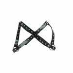 Female Chest Harness - Black Leather